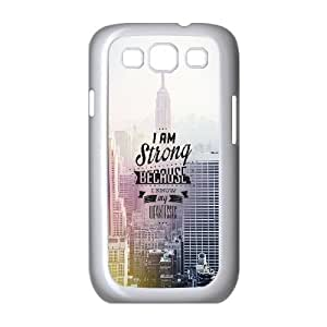 Samsung Galaxy S3 9300 Cell Phone Case White Im Strong SUX_935896