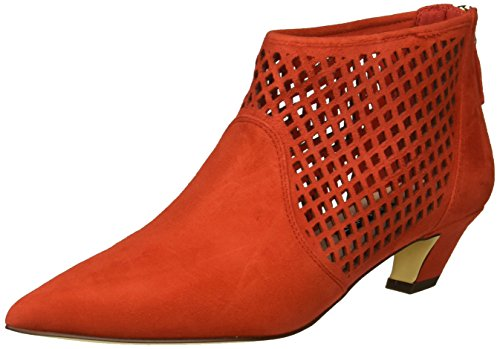 Suede Boot Red Ankle Nine Yovactis West Women's AqwzxXnRta