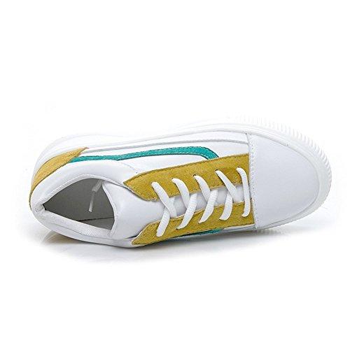Womens Weiße Neue Freizeitschuhe Schuhe Dicke Kleine Unsichtbar Bequeme Schnürschuhe Shoes Frühherbst A Sneakers Erhöhen Untere 37 Leder OxfqtrOwE