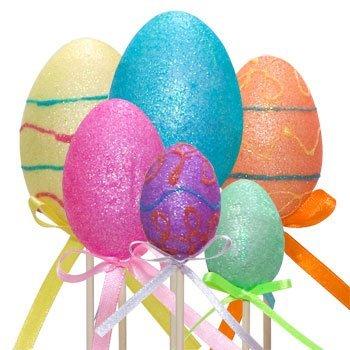 ed Easter Egg Flower Picks Pack of 19 ()
