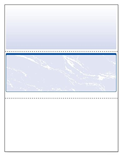 Middle Business Check - DocuGard Business Checks, Blue Marble Middle, 24 Pound Stock, 8.5 x 11 Inches, 500 Sheets per Ream (04509)