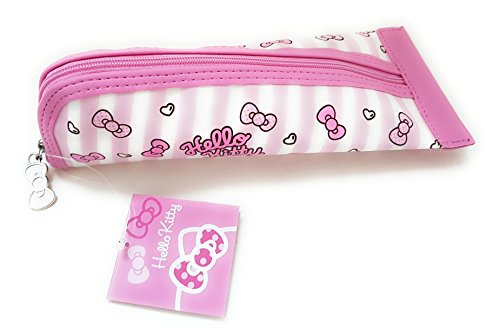 Pink Hello Kitty Triangular Canvas Pencil Pen Case for School Supplies Storage and Organization by Saniro (Image #1)