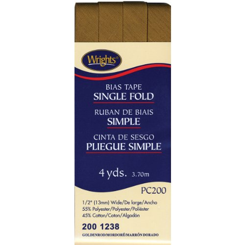 Wrights 117-200-1238 Single Fold Bias Tape, Goldenrod, 4-Yard