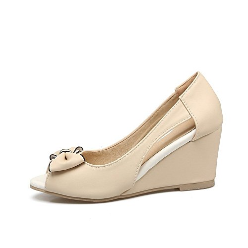 SLC04286 Beige AdeeSu Bout Ouvert Femme wfdwHxqX