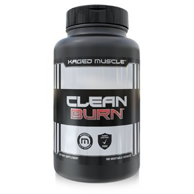 Kaged Muscle Clean Burn - Premium Thermogenic Fat Burner, Appetite Suppressant and Weight Loss Supplement, 180 Capsules