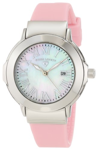 Swiss Legend Women's SL-20032-02-LPK South Beach Mother of Pearl Silicone Watch