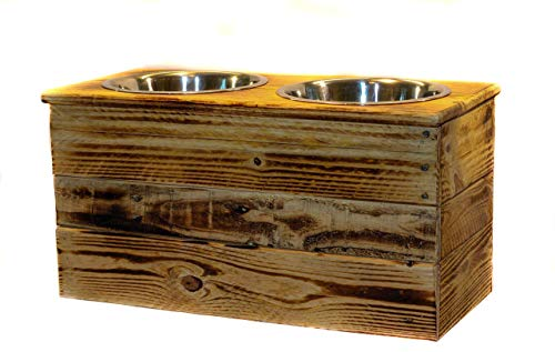 Double Extra Large Elevated Dog Dish // Extra Large 2 Bowl Feeding Stand // Dog Dish // Elevated Dog Bowl