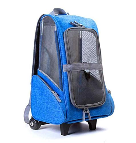 bluee Breathable Pet Backpack Travel Hiking Camping Cute Pet Stroller,bluee