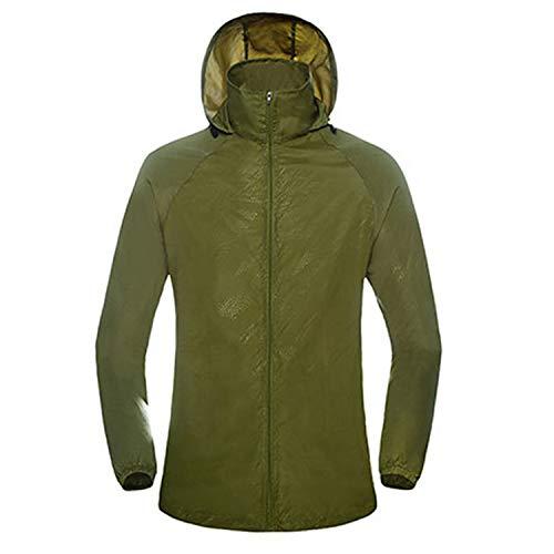(New Mens Women Casual Jackets Windproof Ultra-Light Jacket Men Army Windbreaker Quick Dry Skin Coat Army)