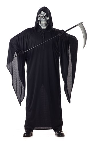California Costumes Men's Grim Reaper Costume, Black, Medium - Scary Halloween Costumes From Party City
