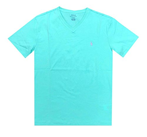 Ralph Lauren Polo by Mens Classic Fit Pony Logo V-Neck T-Shirt