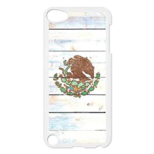 iPod Touch 5 Case White Mexico Flag Light Wood Ykcjp