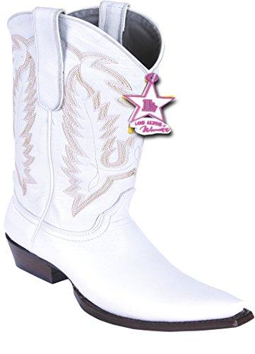 Snip Genuine Leather White Skin Ladies Boots Western Toe Deer StwExdq