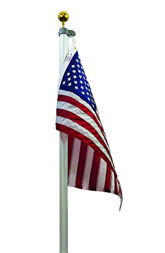 (Valley Forge Flag TSRAFP Flag Pole Tapered Sectional in Ground Aluminum Flagpole Set, 20')
