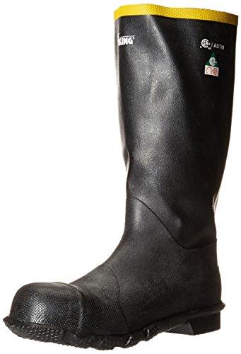 Viking Footwear Handyman Steel Toe Rubber Waterproof Boot, Black, 11 M (Viking Rubber Boot)