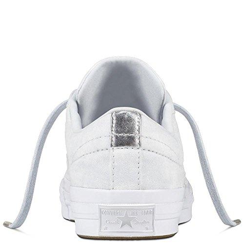 Converse Stjerne Bomull Sølv Livsstil Sko Voksnes Unisex Ren ren Platina Fitness Okse 082 Én Platina rnqYIqwa