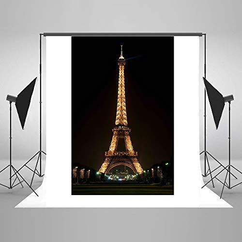 Beautiful Paris Eiffel Tower Photo Studio Backdrop 5x7FT
