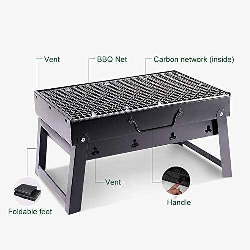 tackjoke Barbecue Grill Portable Pliable De Table Charbon De Bois Barbecue Grill Grill Robuste pour Usage Extérieur À La Maison