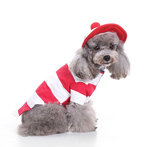 Dress Costumes Uk Dogs Up For (Mummumi Small Pet Dog Clothes , Puppy Pet Halloween Christmas Costumes Cat Halloween and Christmas Parties Dress Up Outwear Windproof Clothes for Small Pet Dog(XL,)