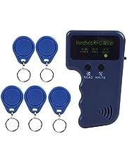 RFID Handheld Copier with 5 Writable RFID Key Tags Portable Handheld Duplicator for 125Khz EM4100 / EM410X Card