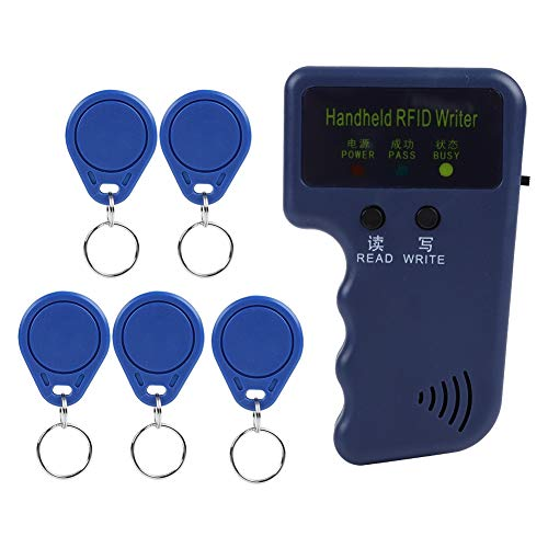 Portable Handheld 125KHz RFID ID Card Writer/Copier Duplicator with 5 Tags