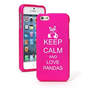 """Apple iPhone 6 (4.7"""") Snap On 2 Piece Rubber Hard Case Cover Keep Calm and Love Pandas (Hot Pink)"""