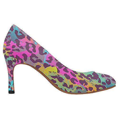 Interestprint Femmes Classique Mode Haute Talon Robe Pompe Chaussures Multi 6