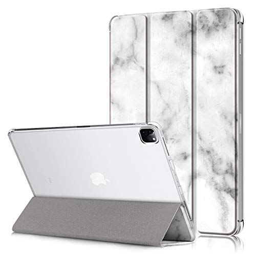 """Case for iPad Pro 12.9 Case 4th Generation 2020 & 2018, Ratesell Lightweight Smart Trifold Stand Hard Back Shell Cover for iPad Pro 12.9"""" 4th Gen 2020 / iPad Pro 12.9"""" 3rd Gen 2018 Markble"""