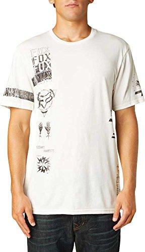 (Fox Racing Mens Felony Fault Short-Sleeve Shirt Medium Vintage White)
