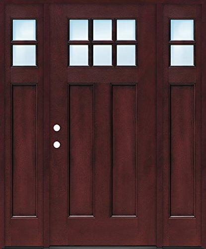 Craftsman 6-Lite Fiberglass Entry Single Door w/Sidelites...