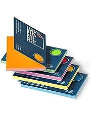 AdPads® Elektrostatisch zelfklevende notities | 100 x 68 mm, 500 vellen, set bont | kleine statische sticky notes | beweegbaar en verschuifbaar op elk oppervlak