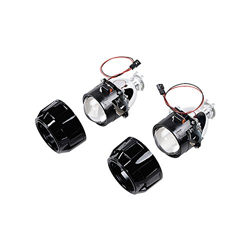 1 Pair 2.5 Inch LHD Mini Bi-xenon HID Projector Lens + Shroud Kit High Low Beam Headlight H1 H4 H7 H13
