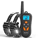 Dog Training Collar with Remote for 2 Dogs, Dog Bark/Shock Collar up to 1800ft Range Rechargeable Waterproof E-Collar with Beep/Vibration/Shock/LED Light for Small Medium Large Dogs Review