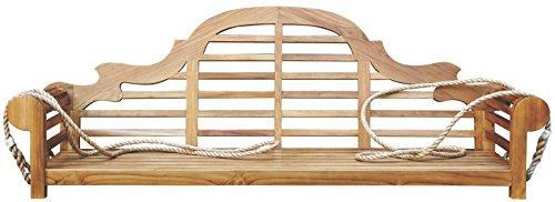 Teak Lutyens Double Porch Swing made by Chic Teak