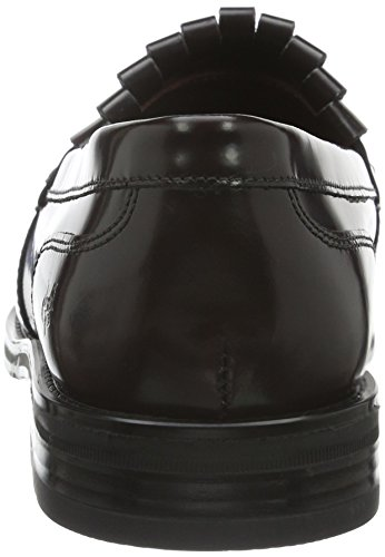 O'polo 60712923201137 379 bordo Marc black Mocasines Loafer Mujer Negro Para npwAfv