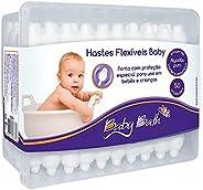 Hastes Flexíveis Baby (caixa com 50 unidades), Baby Bath, Branco