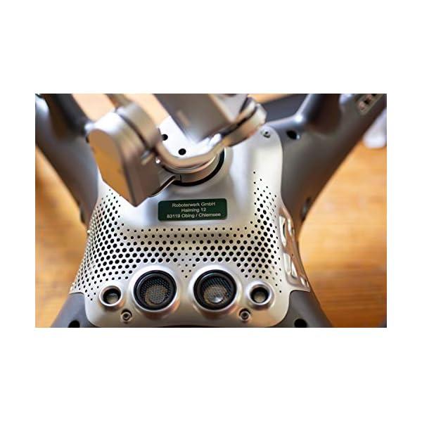 Roboterwerk Segno di Droga in Vetro – Titanio – Alluminio con cartellino Pilota Drone Targa ignifuga/Marca/Drone Targa. 4 spesavip
