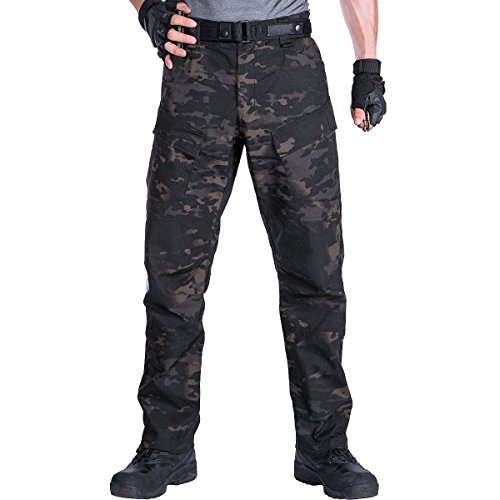 FREE SOLDIER Men's Outdoor Ripstop Trouser Army Tactical Combat Military BDU Pants (Camouflage, 36W/31L)