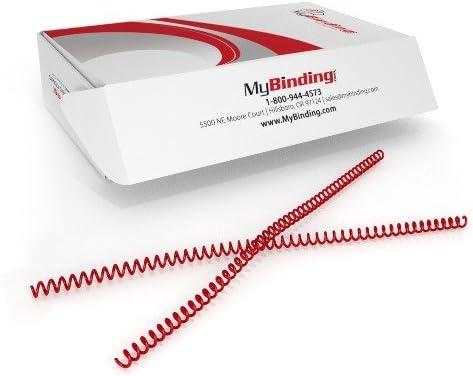 pk of 100 4:1 /¼ x 12 Spiral Binding Coils 6mm Cream PMS 467 C
