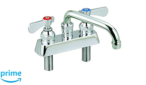 BK Resources BKF-12-G OptiFlow Heavy Duty 8 On Center Splash Mount Faucet with 12 Swing Spout