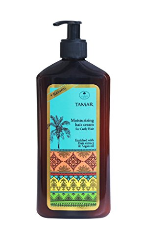 Schwartz Tamar Moisturizing Hair Cream for Curly Hair & Wavy Hair Curl Defining Cream with Keratin Date Extract & Argan Oil for Women & Men SLS Paraben & Cruelty-Free, 16.90 Fl. Oz