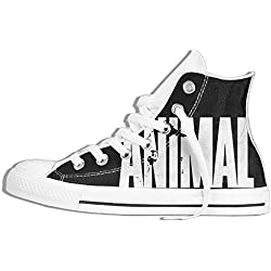 NAFQ Animal Graphic Classic Canvas Sneakers Shoes Lace Up Unisex High Top
