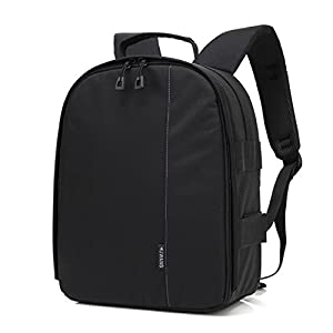 Camera DSLR Backpack Mokao Waterproof Travel Bag by for Camera Lens Laptop/Tablet and Photography Accessories For Nikon Canon Sony Olympus Samsung Panasonic Pentax Cameras (PP)