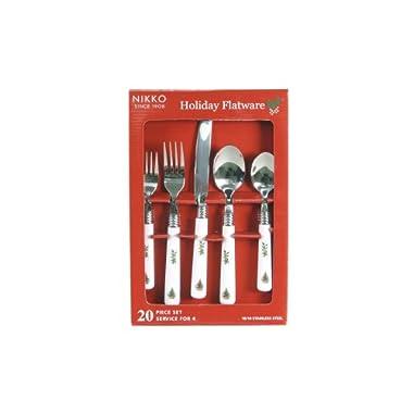 Nikko Christmas Flatware 20 Piece Set, Service for Four