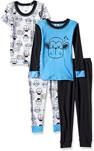 Gerber Boys' 4-Piece Pajama Set, Hello Monkey 4T ()