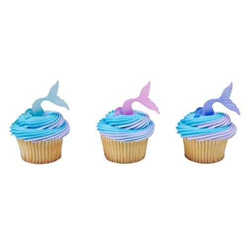 Mermaid Tail Wrap Cupcake Rings - 24 -