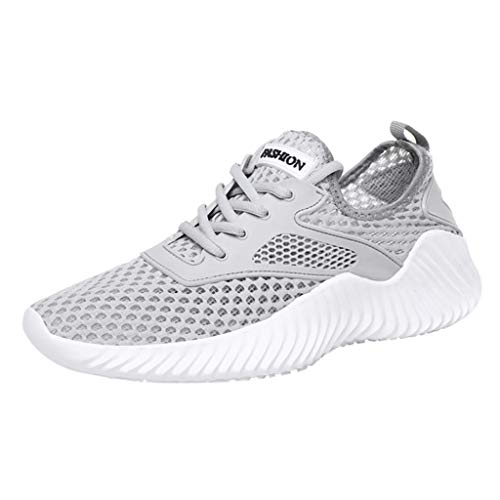 - LUCAMORE Running Sports Shoes for Men and Women Breathable Mesh Fashion Casual Sneakers Grey