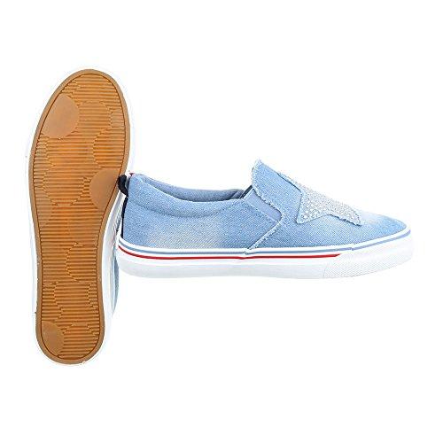 Ital-Design - Zapatillas de casa Mujer Hellblau 16-185