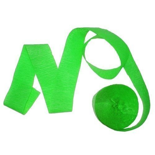 81' Lime Green crepe streamer