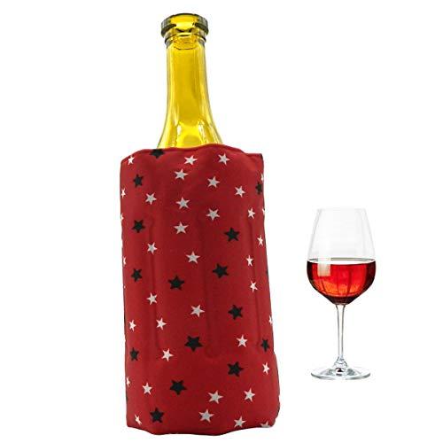 Rapid Ice Wine Cooler, Gel Wine Bottle Chill Cooler Ice Sleeve – Freezer Sleeve- Vodka- Tequila Chiller- Cooler (red)